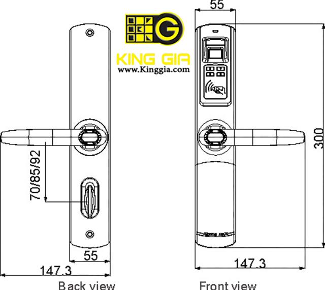 Khóa điện tử ADEL 5500 (3 in 1) 2