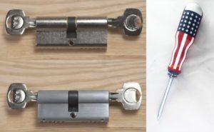 dụng cụ thay lõi khóa cửa tay gạt