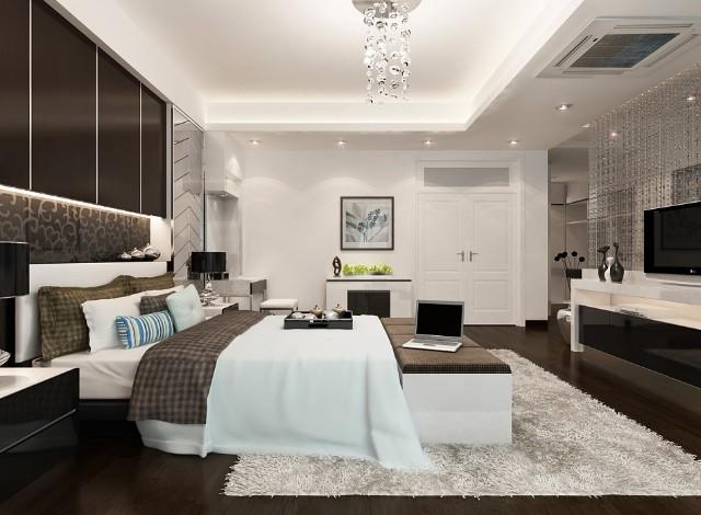 Phòng ngủ trong thiết kế nội thất khách sạn
