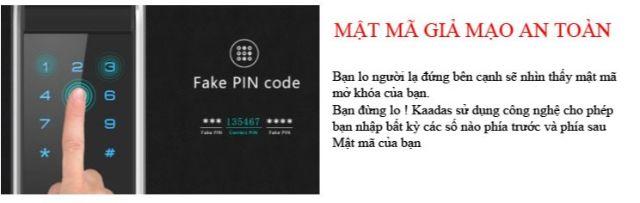 Mật mã an toàn khóa điện tử KAADAS K7