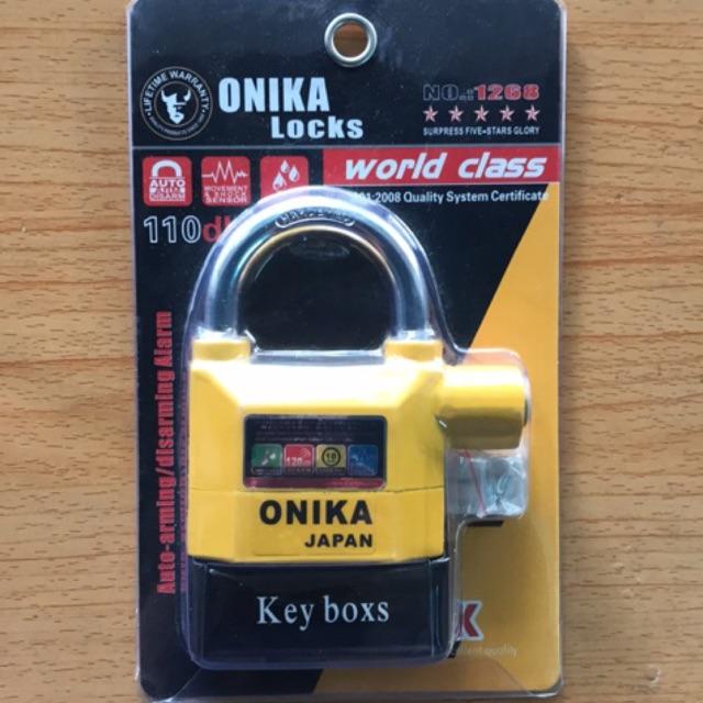 Khóa cửa an toàn chống cắt báo động Onika