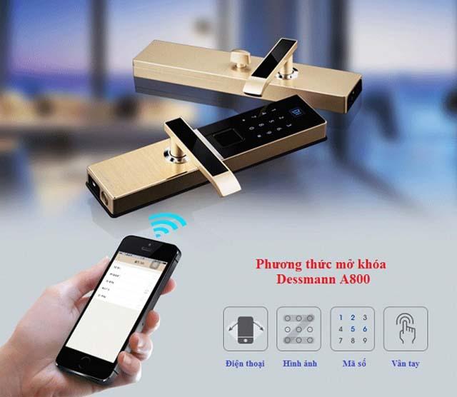 Khóa cửa vân tay Wifi – Bluetooth Dessmann A800-P