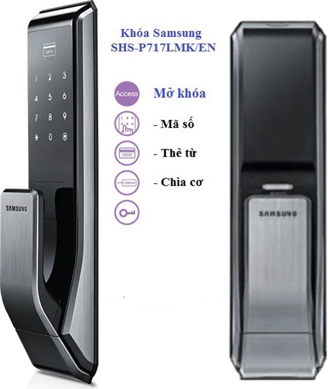 Khóa điện tử Samsung SHS-P717-3